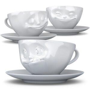kaffekoppar med ansikte