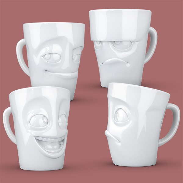 kaffemugg med ansikte
