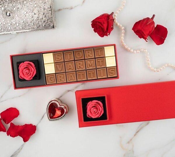 choklad med text