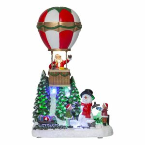 julby med snögubbe och tomte