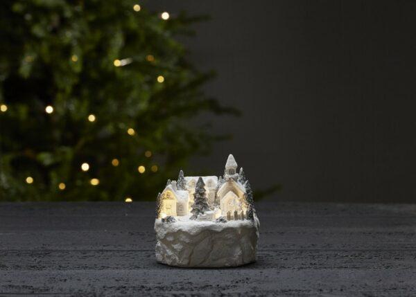 vit julby som lyser
